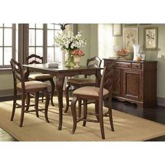 Buy Liberty Furniture Woodland Creek 6 Piece 54x54 Square Counter Height Set on sale online