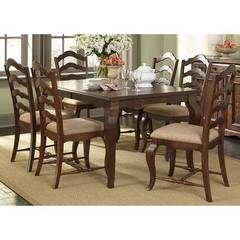 Buy Liberty Furniture Woodland Creek 7 Piece 78x40 Rectangular Dining Room Set on sale online