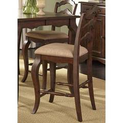 Buy Liberty Furniture Woodland Creek 24 Inch Ladder Back Counter Chair (RTA) on sale online