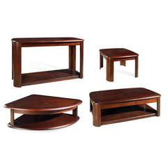Buy Steve Silver Lidya 4 Piece Occasional Table Set in Dark Cherry on sale online