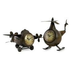 Buy IMAX Worldwide Lindbergh Aviation Clocks (Set of 2) on sale online