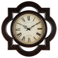 Buy Cooper Classics Lindsey Clock in Aged Black on sale online