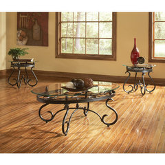 Buy Steve Silver Lola 3 Piece Occasional Table Set in Bronze on sale online
