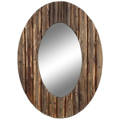 Buy Cooper Classics Loveland Mirror in Natural Rustic Wood on sale online