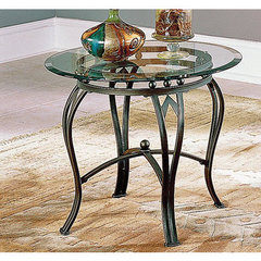 Buy Steve Silver Madrid 26 Inch Round End Table in Bronze on sale online