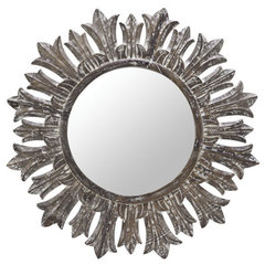 Buy Cooper Classics Marco 36 Inch Round Mirror in White Wash on sale online