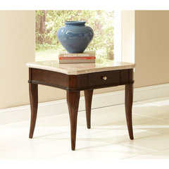 Buy Steve Silver Marseille 28x26 Marble Top End Table on sale online