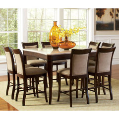 Buy Steve Silver Marseille 9 Piece Marble Top 54x54 Counter Height Set on sale online