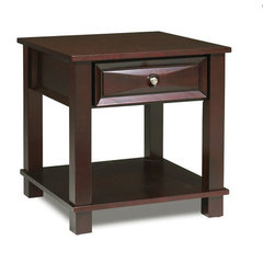 Buy Steve Silver Mason 24 Inch Square End Table in Dark Cherry on sale online