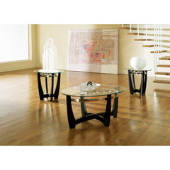 Buy Steve Silver Matinee 3 Piece Occasional Table Set in Black on sale online