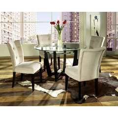 Buy Steve Silver Matinee 5 Piece 48 Inch Round Dining Room Set on sale online
