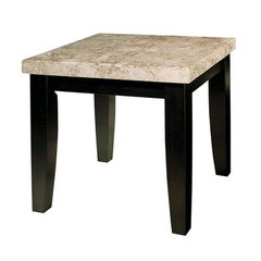 Buy Steve Silver Monarch 24x22 End Table in Black on sale online