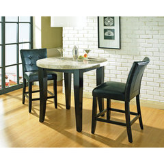 Buy Steve Silver Monarch 3 Piece Marble Top 40x40 Round Counter Height Set on sale online