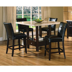 Buy Steve Silver Monarch 5 Piece Marble Top 48x48 Counter Height Set on sale online