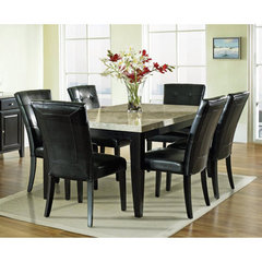 Buy Steve Silver Monarch 7 Piece Marble Top 70x42 Dining Room Set on sale online