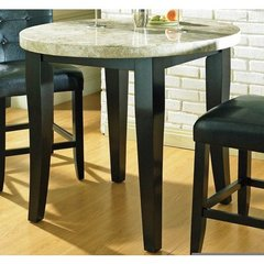 Buy Steve Silver Monarch Marble Top 40x40 Round Counter Height Table on sale online
