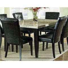 Buy Steve Silver Monarch Marble Top 70x42 Dining Table on sale online