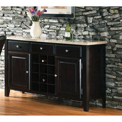 Buy Steve Silver Monarch Marble Top Server w/ Wine Rack on sale online