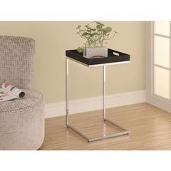 Buy Monarch Specialties 16x16 Accent Table w/ Serving Tray in Cappuccino on sale online