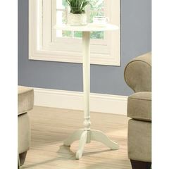 Buy Monarch Specialties 16x16 Round Accent Table in Antique White on sale online