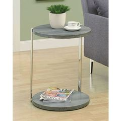 Buy Monarch Specialties 18x18 Round Accent Table in Dark Taupe on sale online