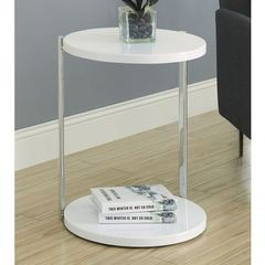 Buy Monarch Specialties 18x18 Round Accent Table in White on sale online