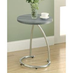 Buy Monarch Specialties 18x18 Round Reclaimed-Look Accent Table in Dark Taupe on sale online