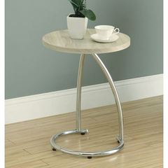 Buy Monarch Specialties 18x18 Round Reclaimed-Look Accent Table in Natural on sale online