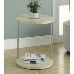 Buy Monarch Specialties 18x18 Round Reclaimed-Look Pedestal Accent Table on sale online