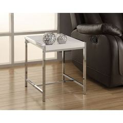 Buy Monarch Specialties 18x18 Square Accent Table in White Acrylic on sale online