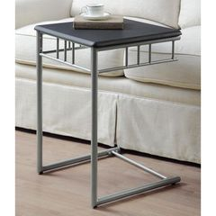 Buy Monarch Specialties 18x18 Square End Table in Black, Silver on sale online