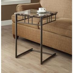 Buy Monarch Specialties 18x18 Square End Table in Cappuccino, Bronze on sale online