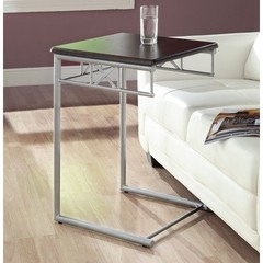 Buy Monarch Specialties 18x18 Square End Table in Cappuccino, Silver on sale online
