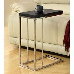 Buy Monarch Specialties 18x10 Rectangular Hollow-Core Accent Table in Chrome, Cappuccino on sale online