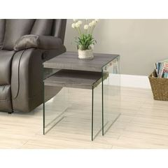 Buy Monarch Specialties 2 Piece 20 Inch Square Nesting Tables in Dark Taupe on sale online