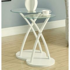 Buy Monarch Specialties 2 Piece 22x16 Oval Nesting Tables in White on sale online
