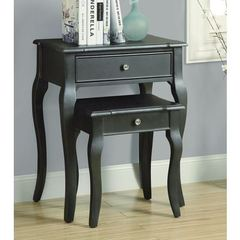 Buy Monarch Specialties 2 Piece 23x15 Nesting Table Set in Antique Black on sale online