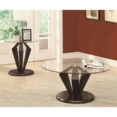 Buy Monarch Specialties 2 Piece 36 Inch Round Occasional Table Set in Dark Espresso on sale online