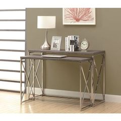 Buy Monarch Specialties 2 Piece 46x18 Rectangular Console Tables in Dark Taupe on sale online