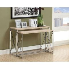 Buy Monarch Specialties 2 Piece 46x18 Rectangular Console Tables in Natural on sale online