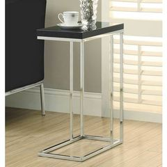 Buy Monarch Specialties 20x10 Rectangular Hollow-Core Accent Table in Glossy Black on sale online