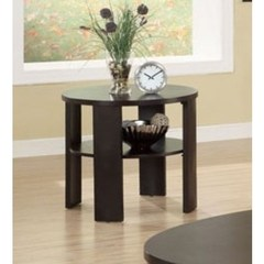 Buy Monarch Specialties 24x24 Round End Table in Cherry on sale online