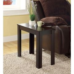 Buy Monarch Specialties 24x12 Rectangular Accent Side Table in Cappuccino on sale online