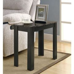 Buy Monarch Specialties 24x12 Rectangular Accent Side Table in Grey, Black on sale online