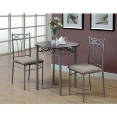 Buy Monarch Specialties 3 Piece 30x30 Round Bistro Table Set in Cappuccino on sale online