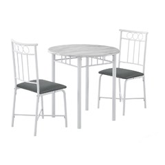 Buy Monarch Specialties 3 Piece 30x30 Dining Set in White on sale online