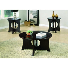 Buy Monarch Specialties 3 Piece 36 Inch Round Occasional Table Set in Dark Espresso on sale online