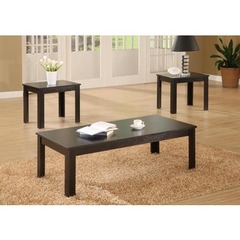 Buy Monarch Specialties 3 Piece 44x22 Rectangular Occasional Table Set in Black on sale online