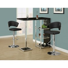 Buy Monarch Specialties 3 Piece 48x16 Bar Table Set in Black, Chrome on sale online