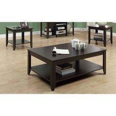 Buy Monarch Specialties 3 Piece 48x30 Rectangular Occasional Table Set in Cappuccino on sale online